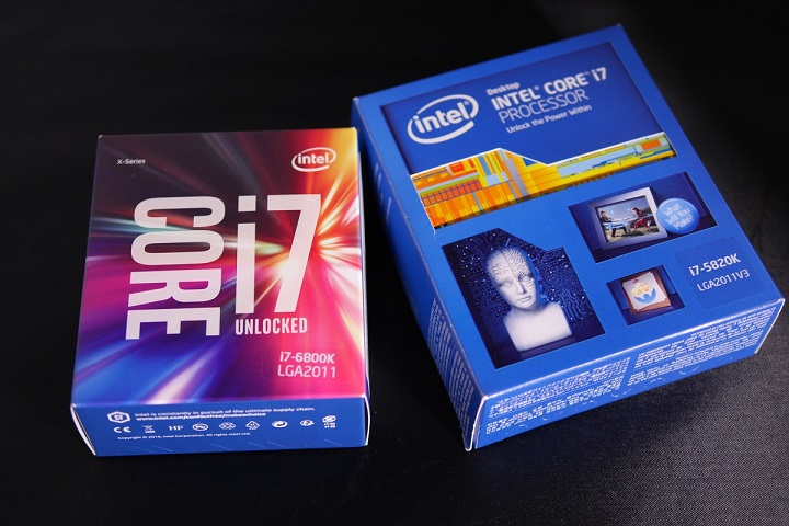 Intel Core i7 6800K とCore i7 5820K