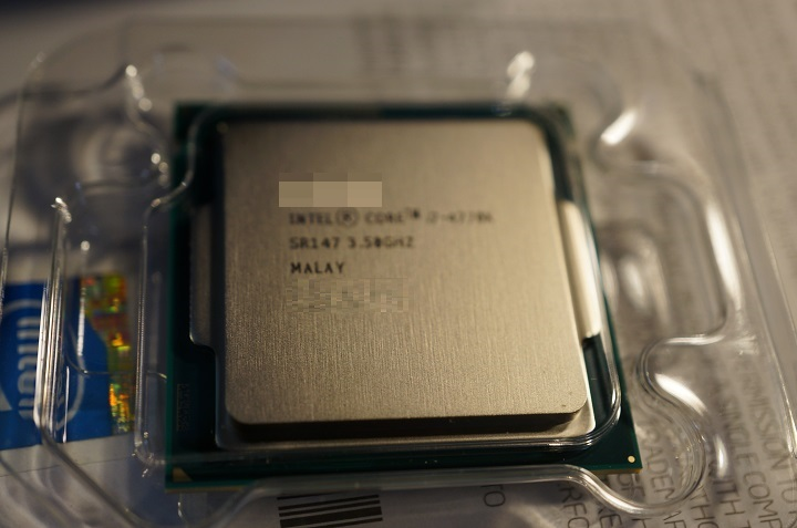 Intel Core i7 4770K開封2