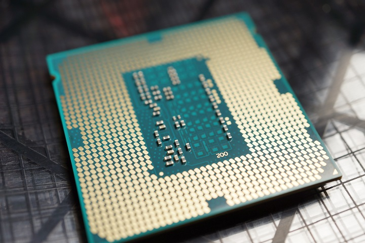 Intel Core i7 4770K裏から