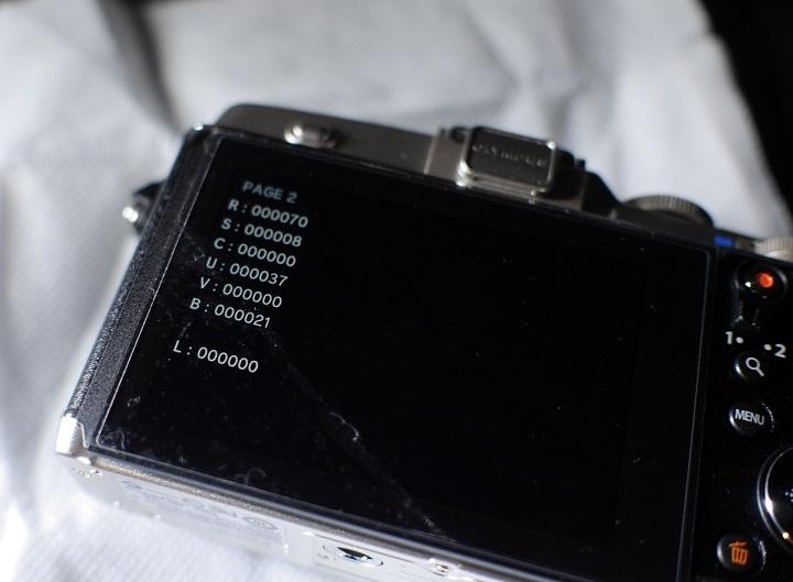 OLYMPUS PEN E-P5のシャッター数