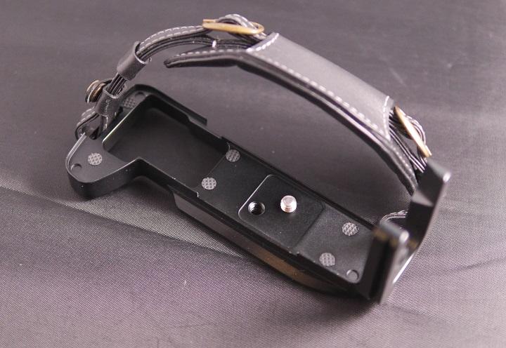 MENGS OM-D E-M1 L字型のクイックリリースプレートにハンドグリップ