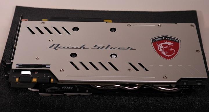 MSI GTX 1070 QuickSilver8G OCバックプレート1