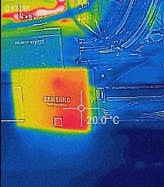 CrystalDiskMarkの最高温度