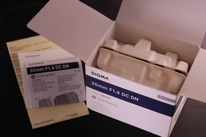 SIGMA 30mm F1.4 DC DN開封1