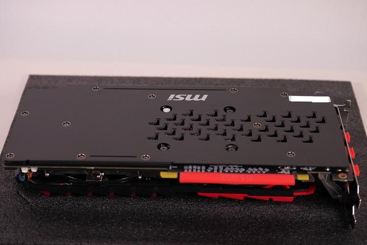 MSI Radeon RX 480 GAMING X 8Gバックプレート1