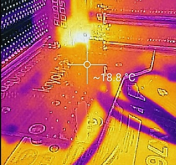 kryoM.2に付属サーマルパッドでの温度1