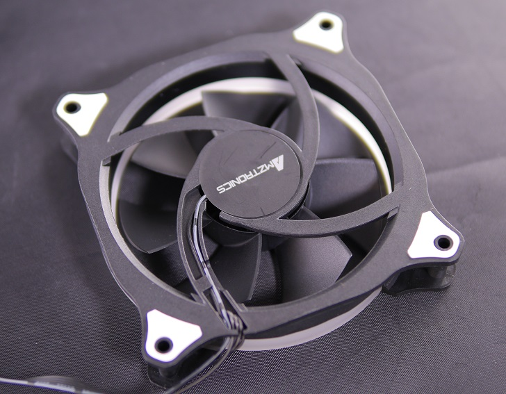 AMZtronics 12cm RGBカラー ファン本体3