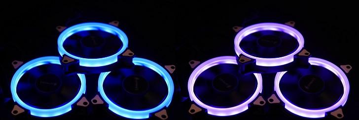 AMZtronics 12cm RGBカラー ファン光らせる1