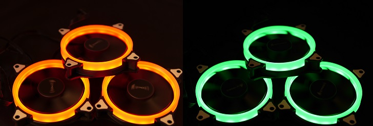 AMZtronics 12cm RGBカラー ファンを光らせる2