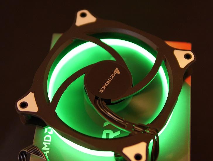 AMZtronics 12cm RGBカラー ファンを光らせる6