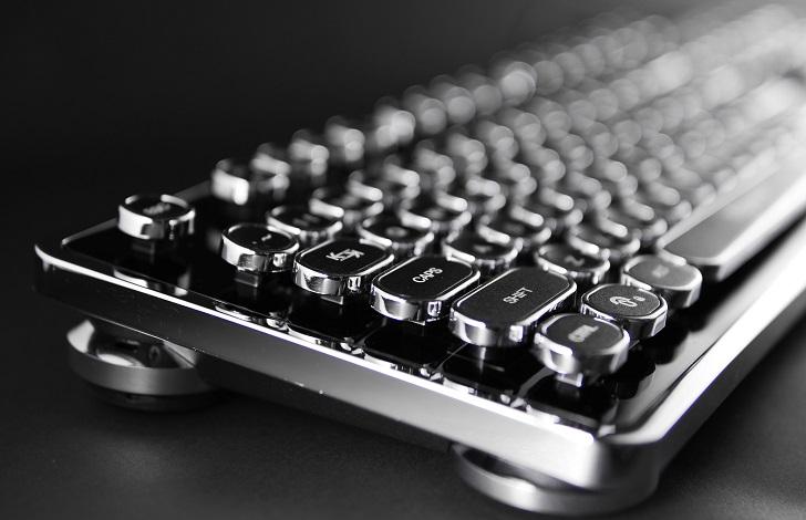 上海問屋 英語104キー USB接続 タイプライター風ゲーミングキーボード