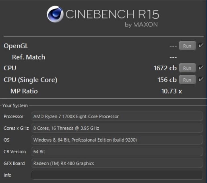 AMD Ryzen7 1700Xを3.94GHzにオーバークロックしてCINEBENCH結果