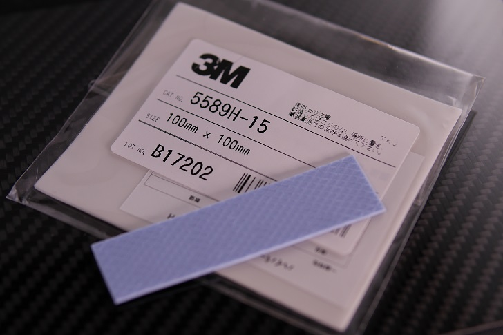 3Mハイパーソフト放熱シート 5589H-15とワイドワーク 超柔らか高放熱ギャップ・フィラー 高放熱シート WW-GAP-B10