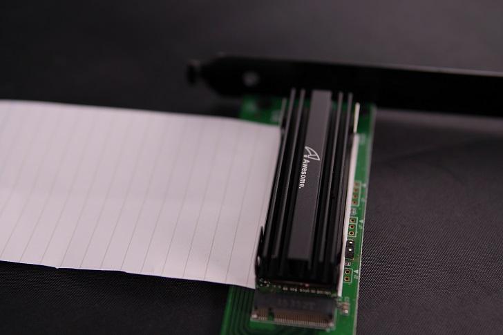 玄人志向M.2-PCIeにAwesome AWD-MCS01を取り付け、その5