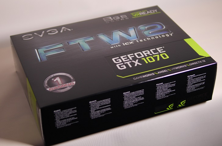 EVGA GeForce GTX 1070 FTW2 iCX箱、その2
