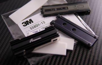 NVMeなM.2 SSD、ヒートシンク比較!