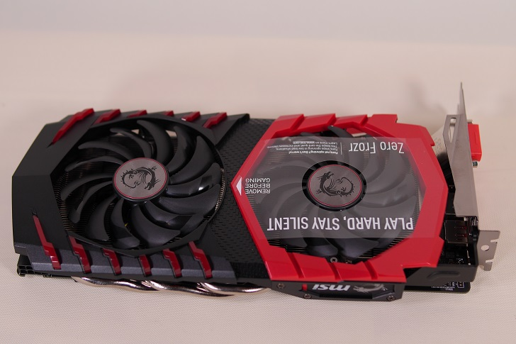 MSI Radeon RX 480 GAMING X 4G本体表から、その2