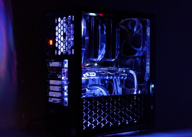黒パソコン光具合、その4