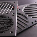 280 Mnpctech Billet Aluminum Radiator Grills,Black【140mmFan×2】