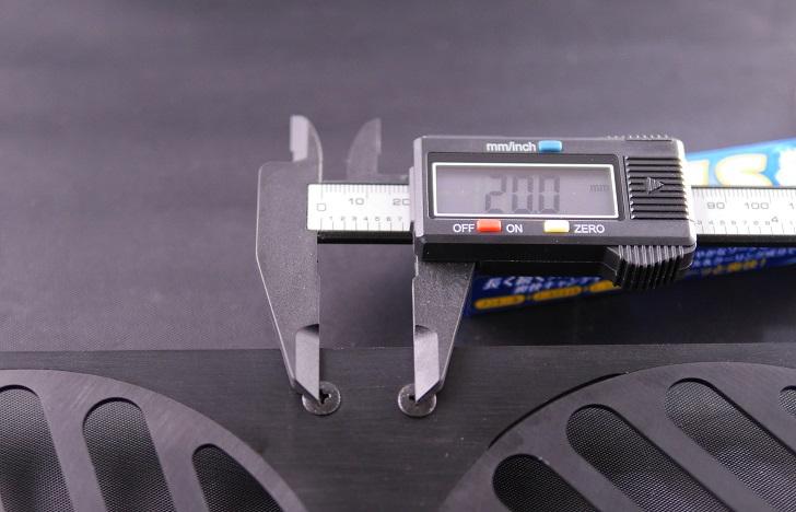 280 Mnpctech Billet Aluminum Radiator Grills,本体サイズ、その1