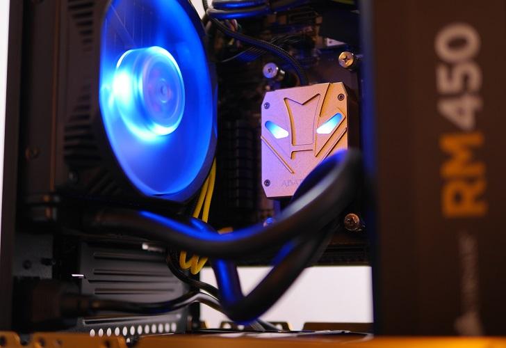 RAIJINTEK METIS金色の電源スリーブ完成、その6