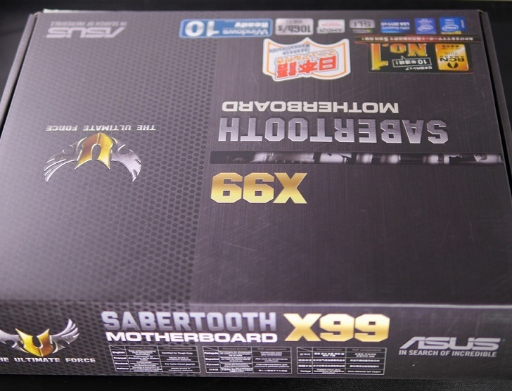 ASUS SABERTOOTH X99の箱
