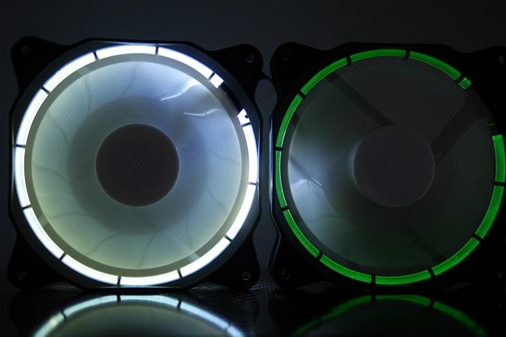 EasyDiy PCケースファンを光らせる、緑、その1