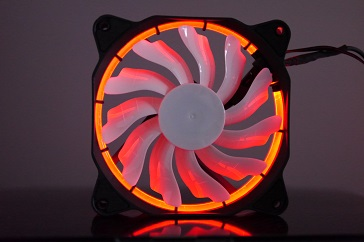 EasyDiy PCケースファンを光らせる、赤、その3