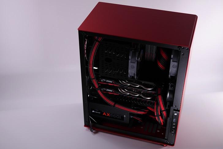 JONSBO U4 赤黒、その3
