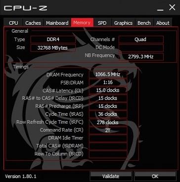 JONSBO U4 赤黒のメモリをCPU-Zでメモリクロック確認、その2