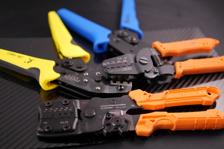 スリーブケーブル自作の道具、圧着工具