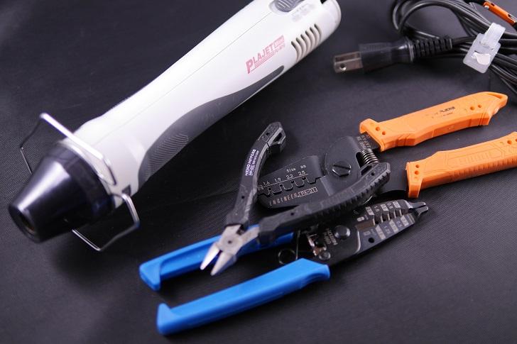 Fan延長ケーブル、工具