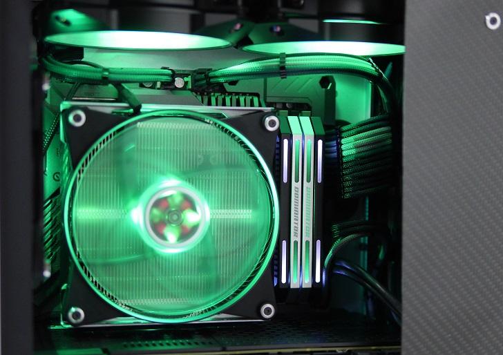 JONSBO UMX4を光らせる(緑)その6