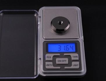 真鍮ロジウムメッキ 製 スパイクの重さ、その2