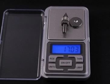 金属製スパイク(小)の重さ、その1