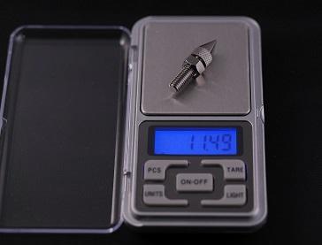 金属製スパイク(小)の重さ、その2