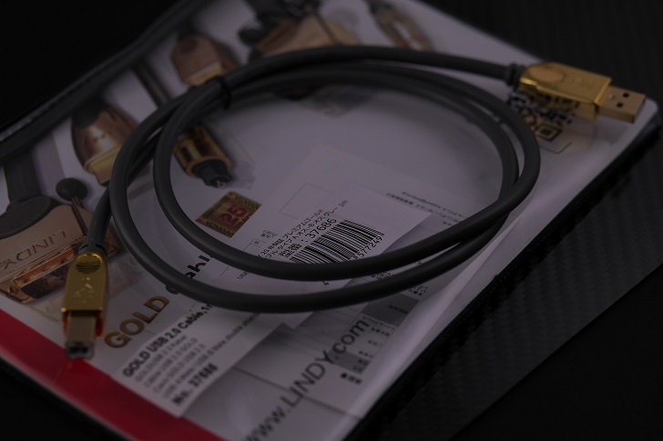 LINDY 25年保証 プレミアムゴールド USB2.0ケーブル タイプAオス-Bオス グレー 1m