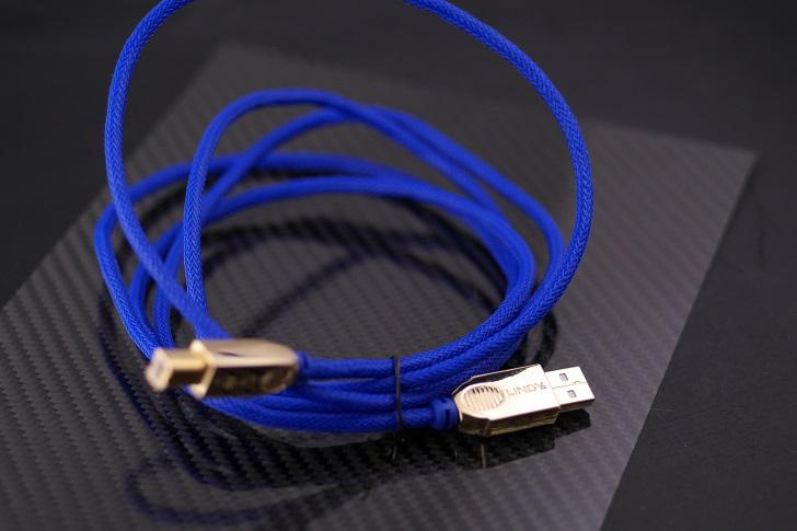 LINDY 25年保証 プレミアムゴールド USB2.0ケーブル タイプAオス-Bオス ブルー 2m