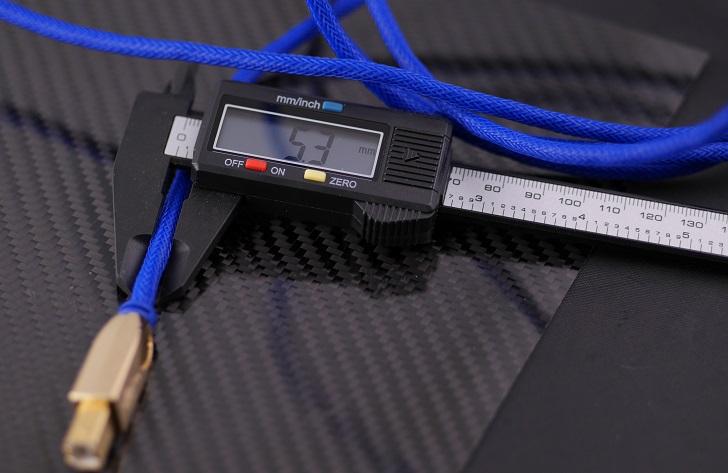 LINDY 25年保証 プレミアムゴールド USB2.0ケーブル タイプAオス-Bオス ブルー 2m、太さ