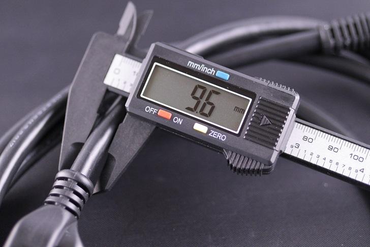 KOJO 3極 電源ケーブル Medusa / 2m、電線の太さ