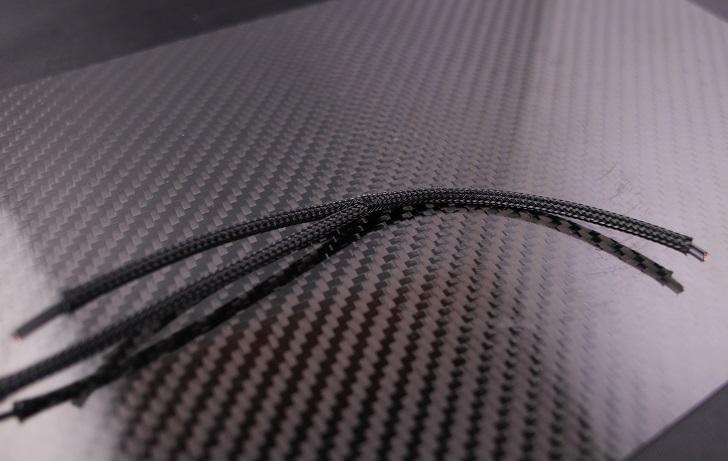 PC電源、スリーブケーブルで熱収縮チューブを使わず分岐、その2