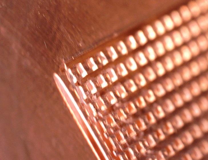 CPU水冷ブロック、ペース部分拡大、その3