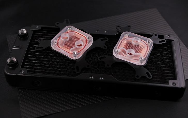 CPU水冷ブロックとラジエーター