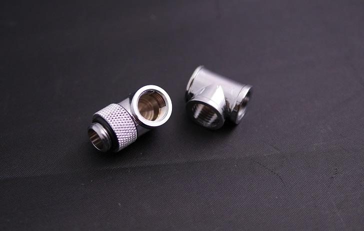 GAOHOU 3ウェイ継手メスTスプリッタG1 / 4スレッドブラスクロムPCウォーター冷却用