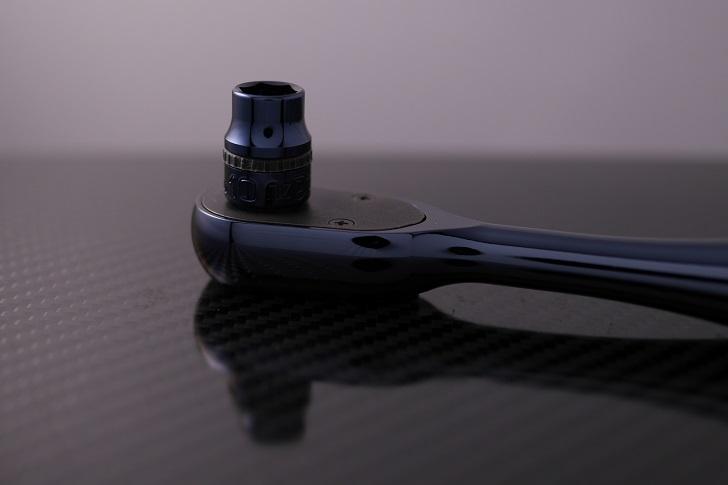 Snap-on F936 3/8シールドラチェットとnepros NBR390JB 3/8sqラチェットハンドル、その5