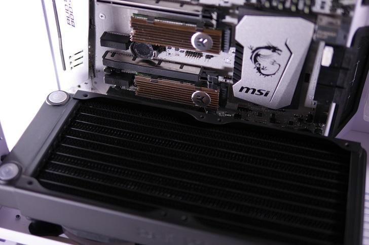 XSPC EX240とEX280をLian-Li O11 Dynamicに装着、その6