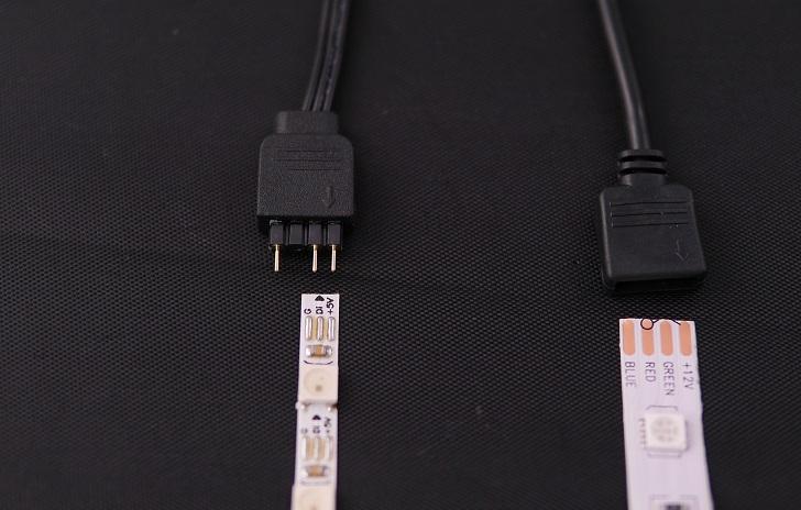 Addressable RGBテープと5050RGBテープ比較、その2