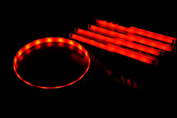EASYDIY RGB LEDファンフレーム 120mmファン用を光らせる、その1