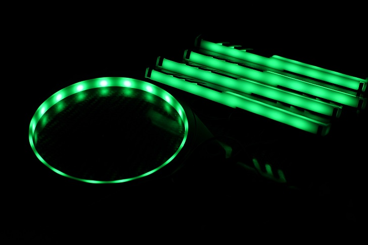 EASYDIY RGB LEDファンフレーム 120mmファン用を光らせる、その2