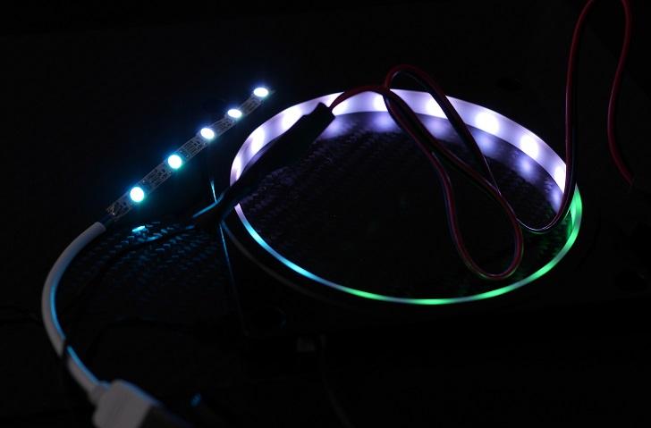 アドレサブル LEDテープを光らせる、その2